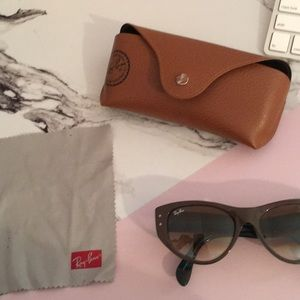 """Teal and Brown """"Cat-eye"""" Ray-Ban sunglasses"""